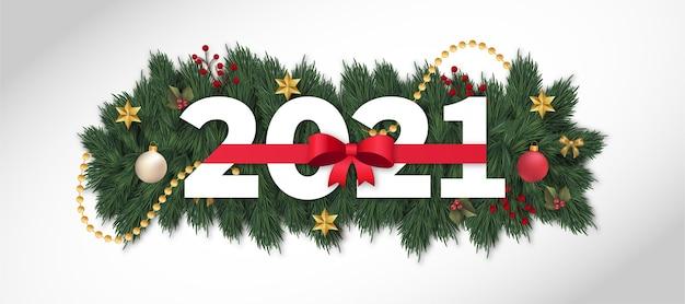 Новогоднее украшение баннер 2021