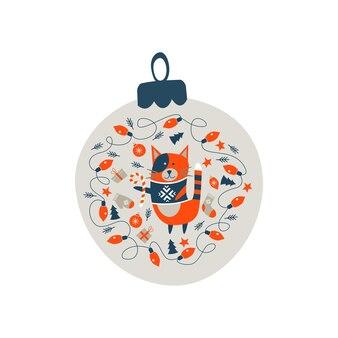 Новогоднее украшение елочный шар.