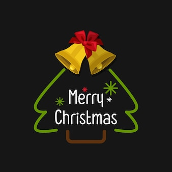Christmas decoration collection of calligraphy and typography design with labels
