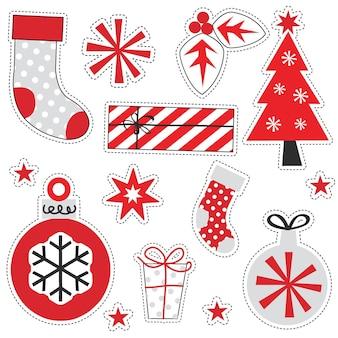 Рождественские украшения элемент, векторные иллюстрации