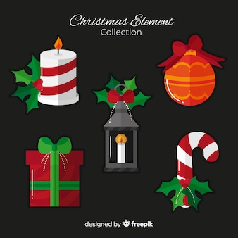 Christmas decoration elements collection