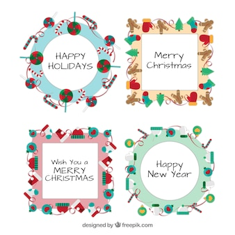 Christmas decoration frames template pack