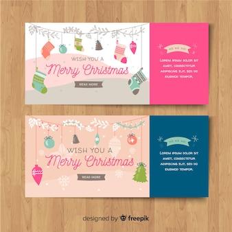 Christmas decoration garland banner