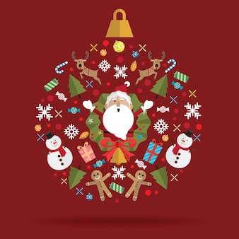 Christmas decoration icon ball