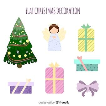 평면 디자인의 크리스마스 장식