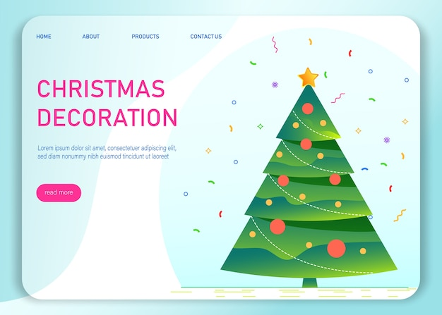 Christmas decoration. merry christmas and happy new year greeting background