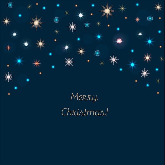 크리스마스 장식 네온 화환 축제 장식 새해 진한 파란색 배경 벡터