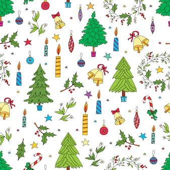 Christmas decoration seamless pattern. background