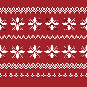 Christmas decoration seamless pattern. ugly sweater