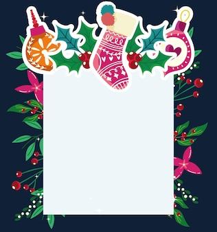 クリスマスデコレーションソックスボールフラワー