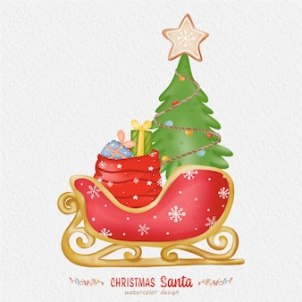 Christmas decoration watercolor