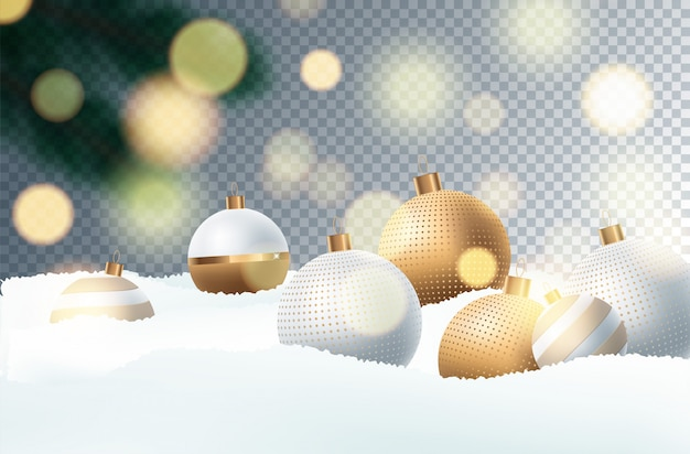 Christmas decoration  with festive objects