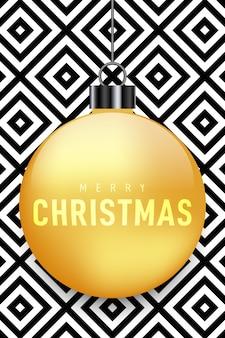 Новогоднее украшение с золотым шаром