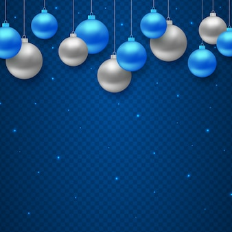 Christmas decoration with hanging color balls