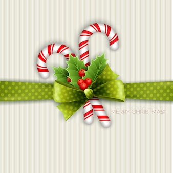 Christmas decoration with holly leaves