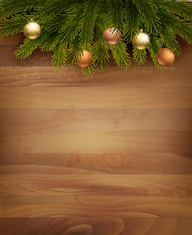 Christmas decoration on wooden background.  .
