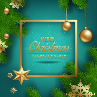 Christmas decorations vector graphic