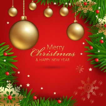 Christmas decorations with beautiful ornaments