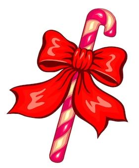 Рождественские украшения с конфетами. векторные иллюстрации, изолированные на белом.