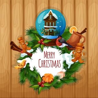 クリスマスの装飾的な背景