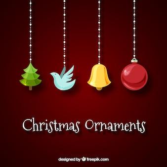 クリスマスの装飾の要素の背景