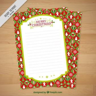 크리스마스 장식 편지지 템플릿