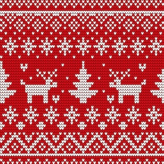 Christmas decorative seamless pattern on sweater, winter