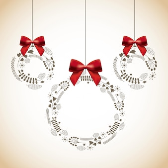 Рождественские декоративные венки