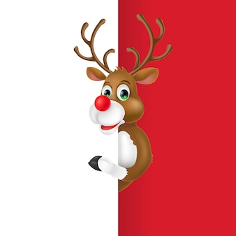 Christmas deer cartoon character