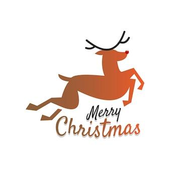 Christmas deer cartoon illustration