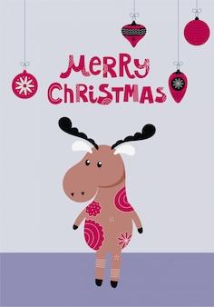 Christmas deer character