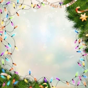 クリスマスデフォーカス明るい背景。