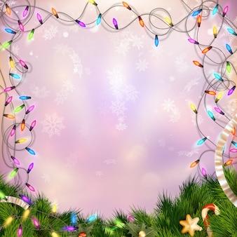 Рождество расфокусированным светлый фон.