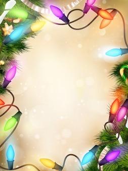 Рождество расфокусированным светом.