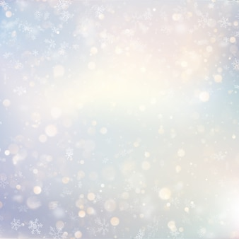 Рождество расфокусированным снег светлый праздник светящийся зимний фон с мигающими размытыми снежинками. праздник светящийся фон.