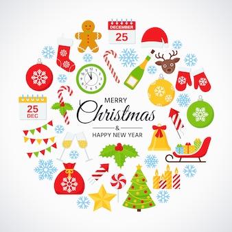 クリスマスデザインカード。挨拶の背景。休日のポスター。パーティーテンプレート。ベクトルイラスト
