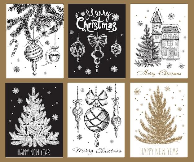 Рождественский элемент дизайна в стиле каракули рисованной