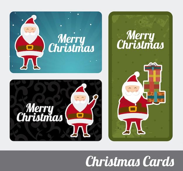 Christmas design over gray background vector illustration