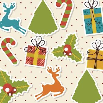 点在の背景ベクトルのイラスト以上のクリスマスのデザイン