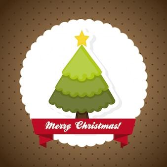 점선 된 배경 위에 크리스마스 디자인