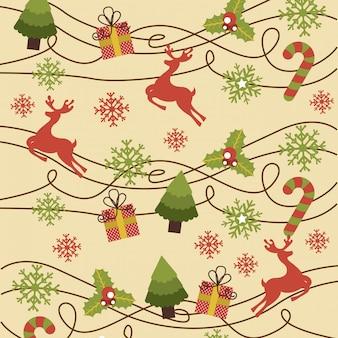 ピンクの背景にベクトルのクリスマスのデザイン