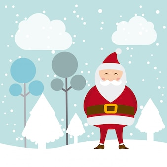 空の背景にベクトルのクリスマスのデザイン