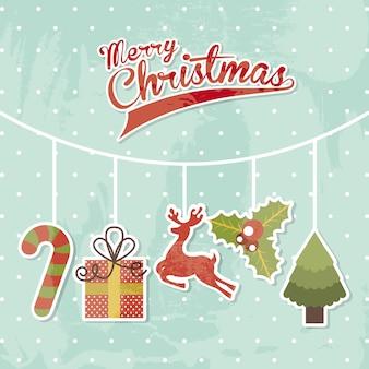 クリスマスデザイン、雪の背景、ベクトル、イラスト