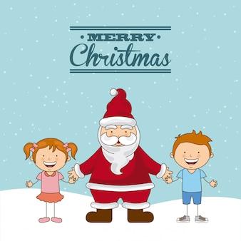 Christmas design over sky   background vector illustration