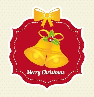 Christmas design over white  background