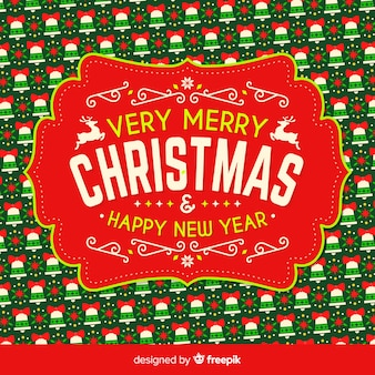Christmas design with background pattern