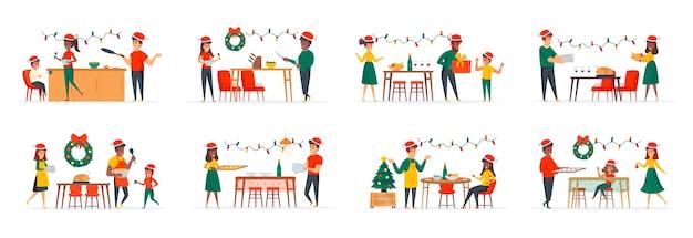 Christmas dinner bundle of scenes
