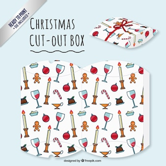 Christmas dinner cut out box