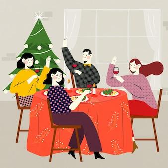 크리스마스 저녁 식사 장면