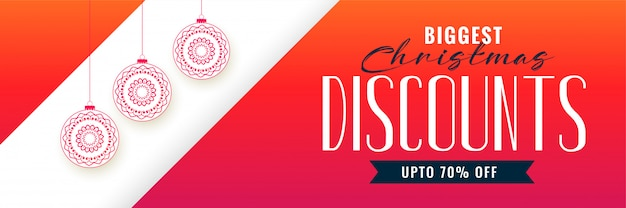 Christmas discount banner colorful template